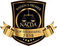 Black and gold logo with text that reads Nations Premier Top Ten Ranking 2018