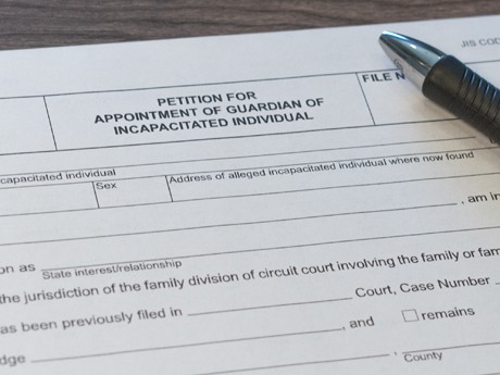 Legal document for the petition for appointment of guardianship of an incapacitated individual