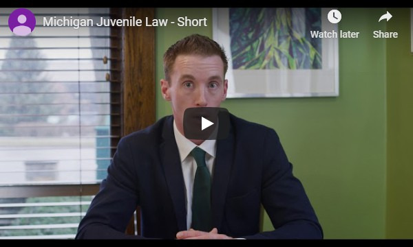 Video of attorney Mike Kelly sitting down and talking about laws regarding juveniles and minors in the State of Michigan