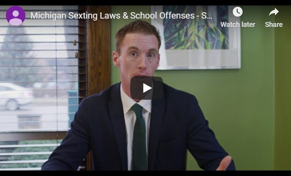 Video of attorney Mike Kelly sitting down and discussing the laws on sexting & school offenses in Michigan