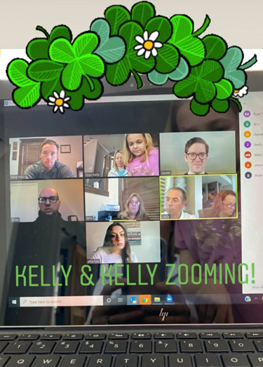 The lawyers at Kelly & Kelly meeting in a video conference