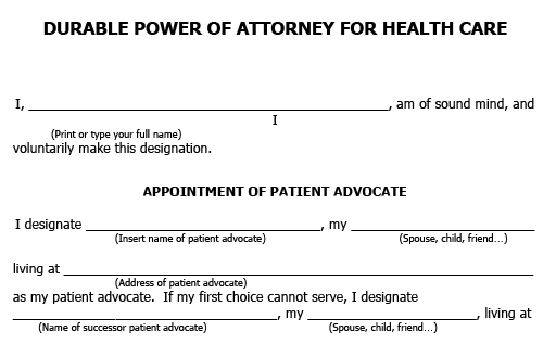 Front portion of a blank form titled elder law and disability rights section